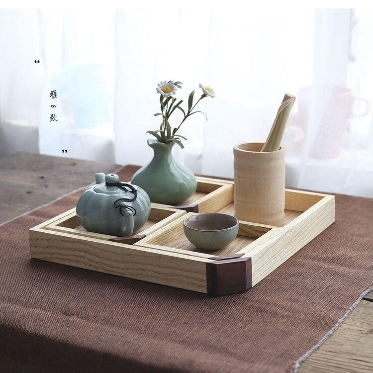 免運 精品-精緻木質托盤創意茶盤水曲柳木茶盤可加工