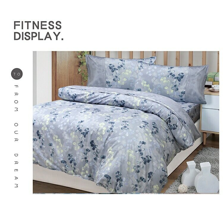【FITNESS】精梳棉單人床包枕套二件組-賈柯梅蒂(紫)_TRP多利寶