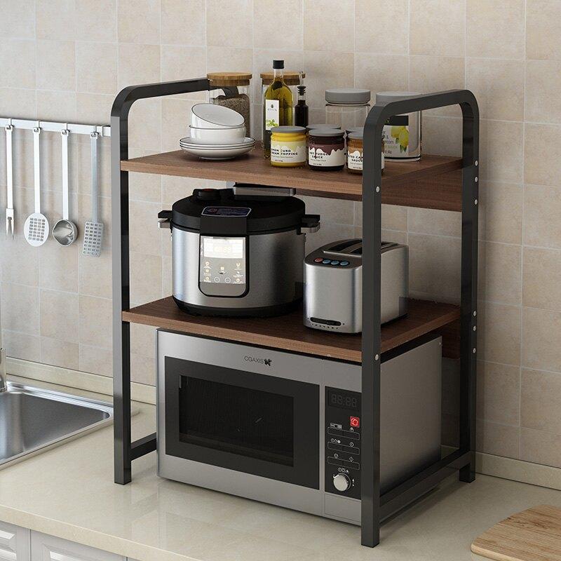 廚房置物架台面多層調料架微波爐架子調味置物收納架用品家用大全