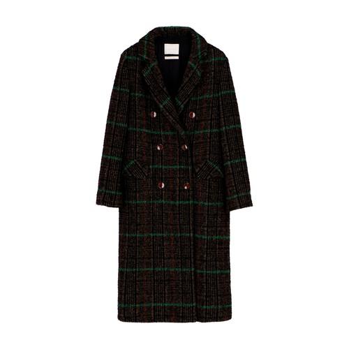 Opale Coat In Check Wool