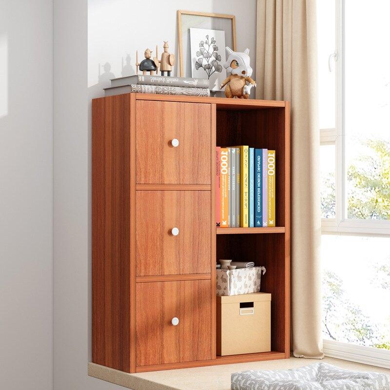飄窗柜儲物柜白色簡易書架簡約落地書柜收納柜陽臺家用多層小柜子免運【艾莎嚴選】