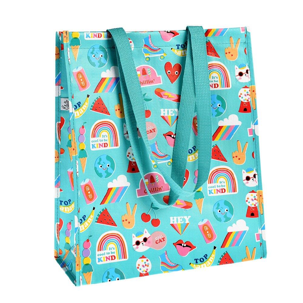 英國 Rex London 環保多功能購物袋/萬用袋_繽紛搖滾_RL29021