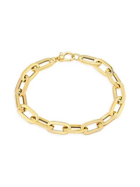 Classic Oro 18K Gold Flat Link Bracelet