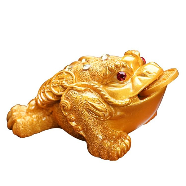 金蟾變色茶寵擺件禪意茶道茶具招財茶桌茶臺小裝飾可養蟾蜍茶寵物魔方