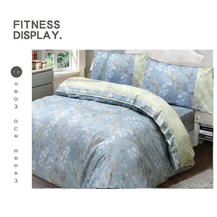 【FITNESS】精梳棉單人床包枕套二件組-賈柯梅蒂(藍)_TRP多利寶