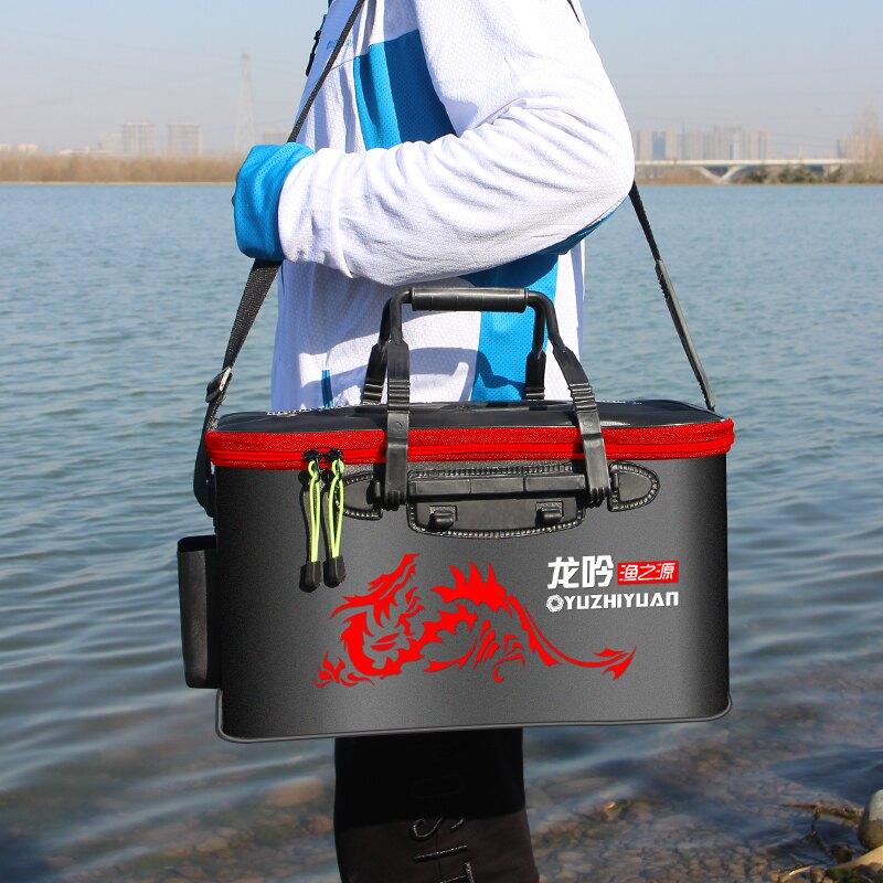 活魚桶釣魚桶加厚魚箱裝魚多功能折疊水桶魚護桶釣箱裝魚箱
