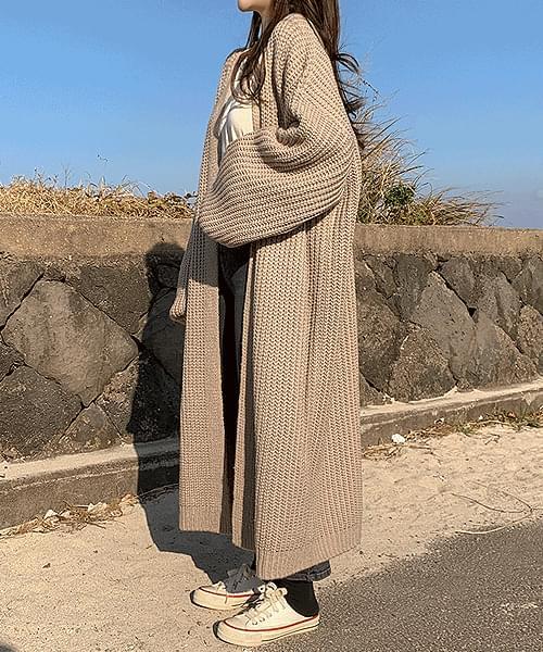 韓國空運 - ♥ More than 1,000 sheets ♥ Latte Art Hachi Knitwear Robe Long Cardigan 針織外套