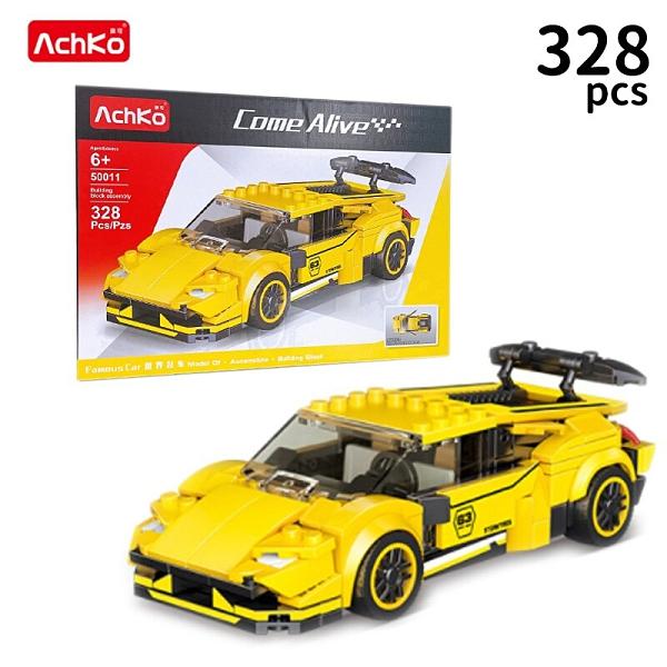 AchKo 澳可 50011 仿真跑車模型積木 328PCS/一盒入(促320) 模擬車模型 世界名車 滑行跑車 -CF149798