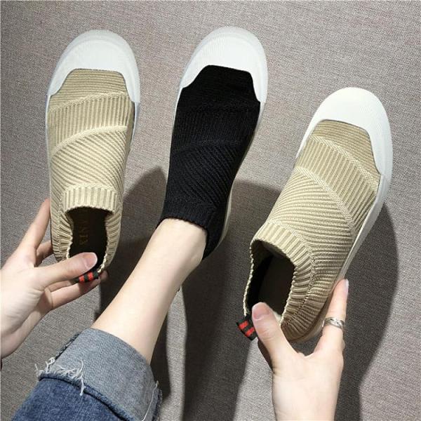 春季帆布潮鞋一腳蹬懶人布鞋潮流老北京男鞋百搭休閑夏季透氣板鞋 西城故事