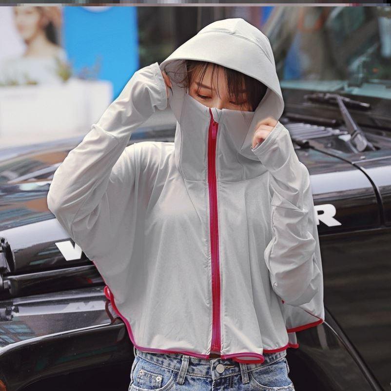 電動摩托車防曬衣女長袖薄款開車帶帽夏季遮陽遮臉防紫外線披肩潮
