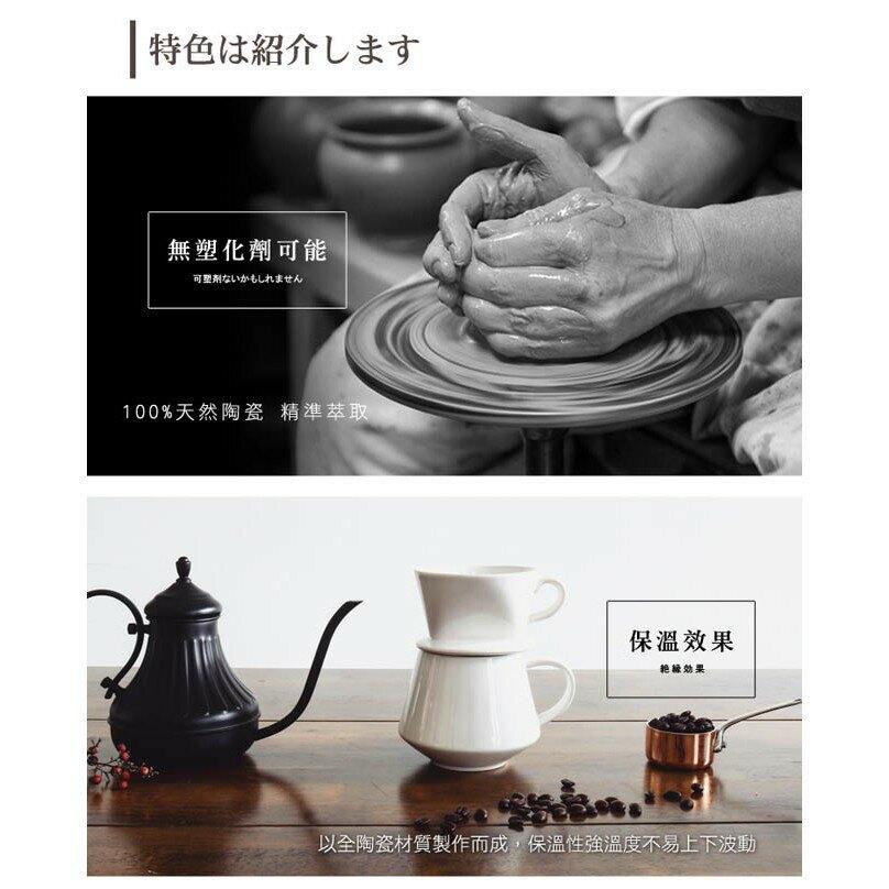 【FUSHIMA富島】Tlar陶瓷職人濾杯1-2人份+陶瓷杯400ML優雅組(4色可選)