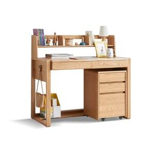 源氏木語巧克力0.9M可調節兒童書桌 Y74X01 (含矮書架及抽屜櫃)