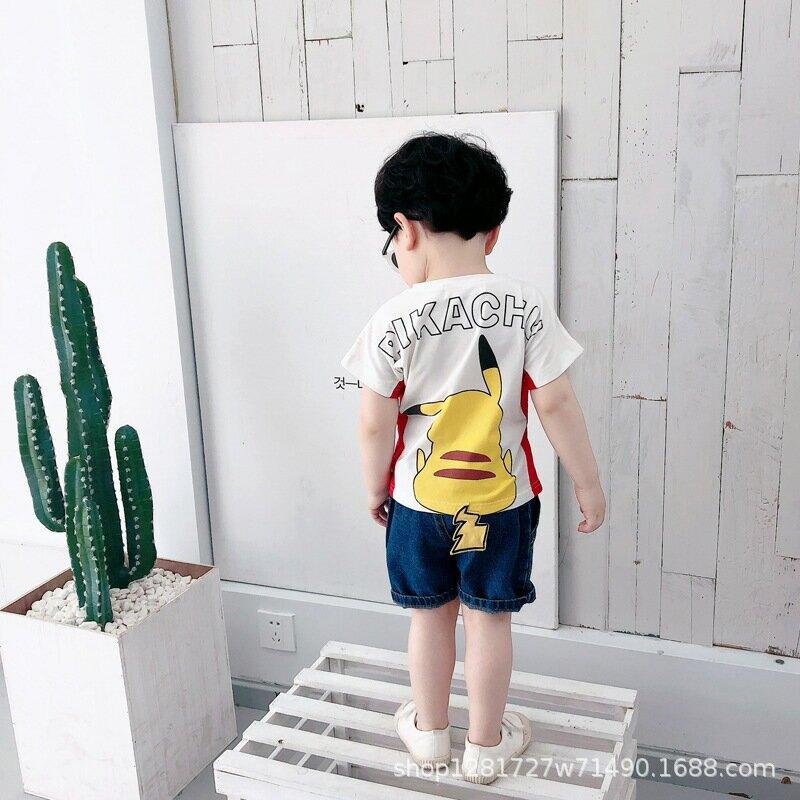 寶寶短袖T恤洋氣男童夏裝卡通打底衫小兒童夏季上衣韓版潮2021新