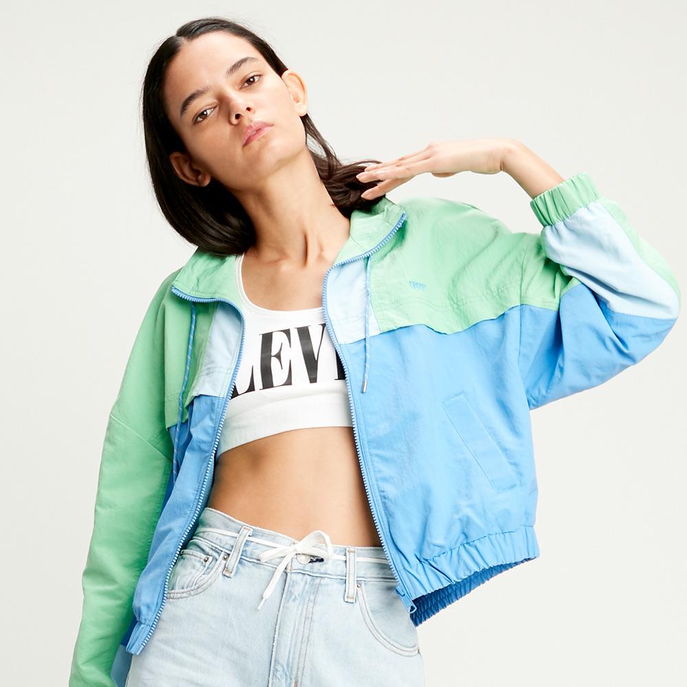 Levis 女款 風衣外套 / 寬鬆落肩版型 / 刺繡Serif Logo / 收縮袖口 下擺-熱銷單品