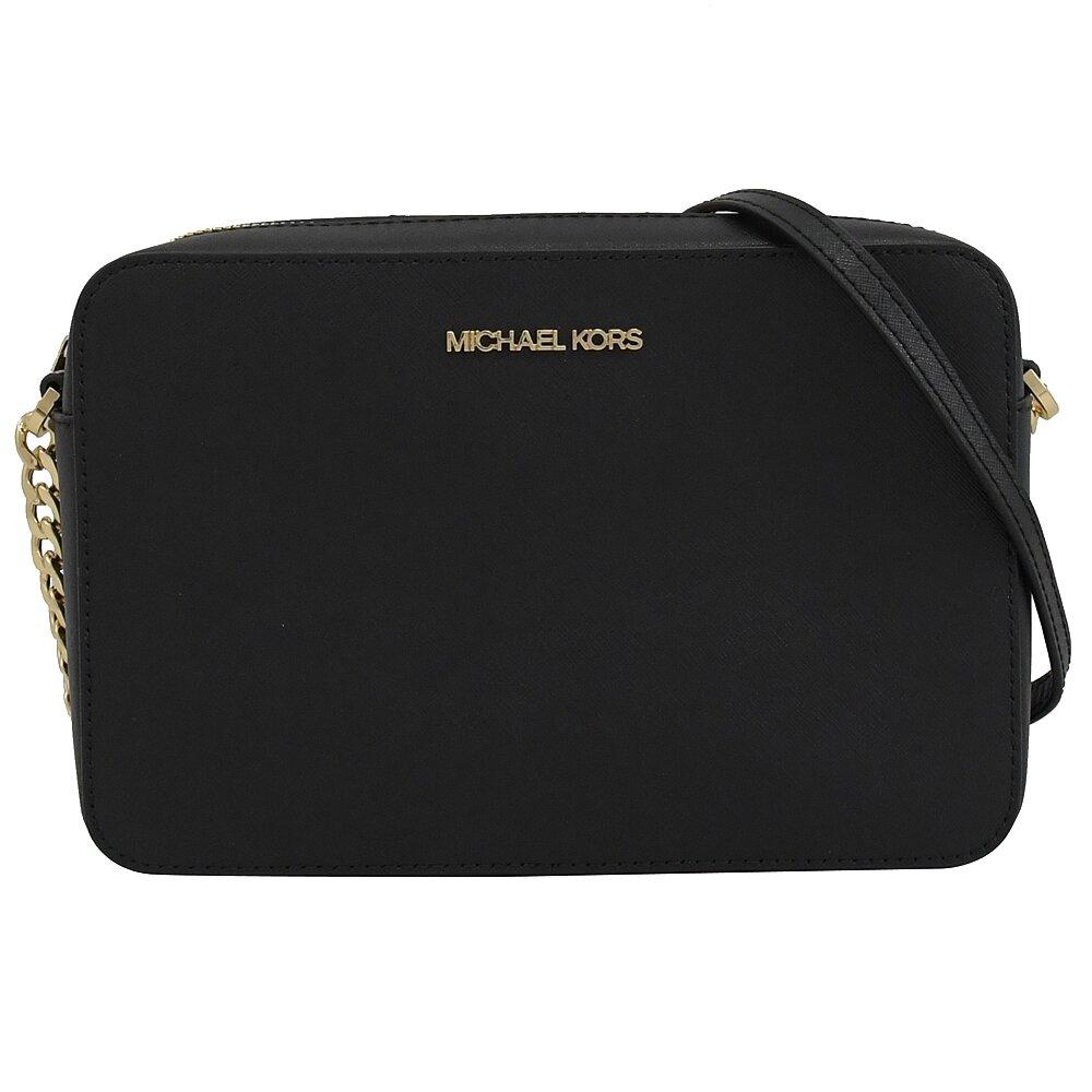 MICHAEL KORS 專櫃商品 JET SET ITEM 經典鍊條斜背方包.黑