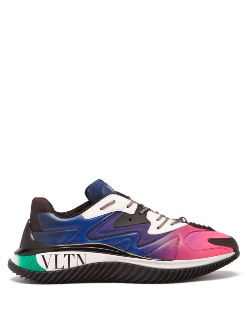 Valentino Garavani - Wade Runner Vltn Leather Trainers - Mens - Multi