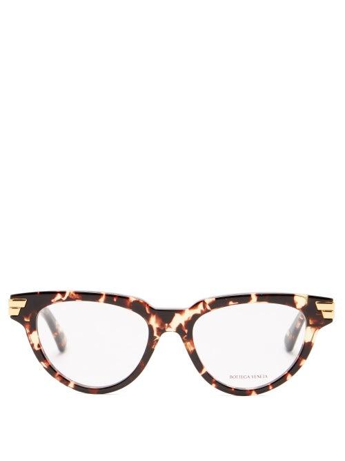Bottega Veneta - Cat-eye Tortoiseshell-acetate Glasses - Womens - Tortoiseshell