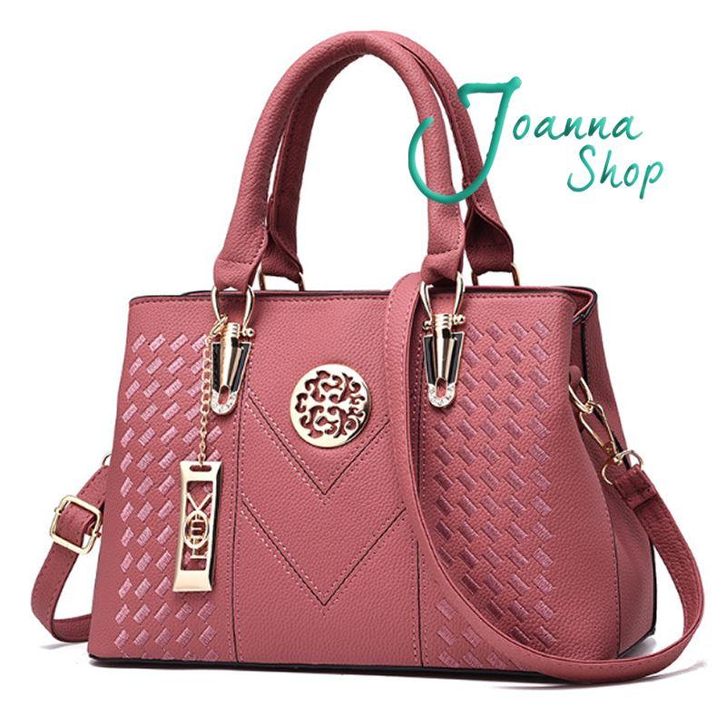 小資女時尚簡約繡線V字手提包創意斜肩包2-Joanna Shop
