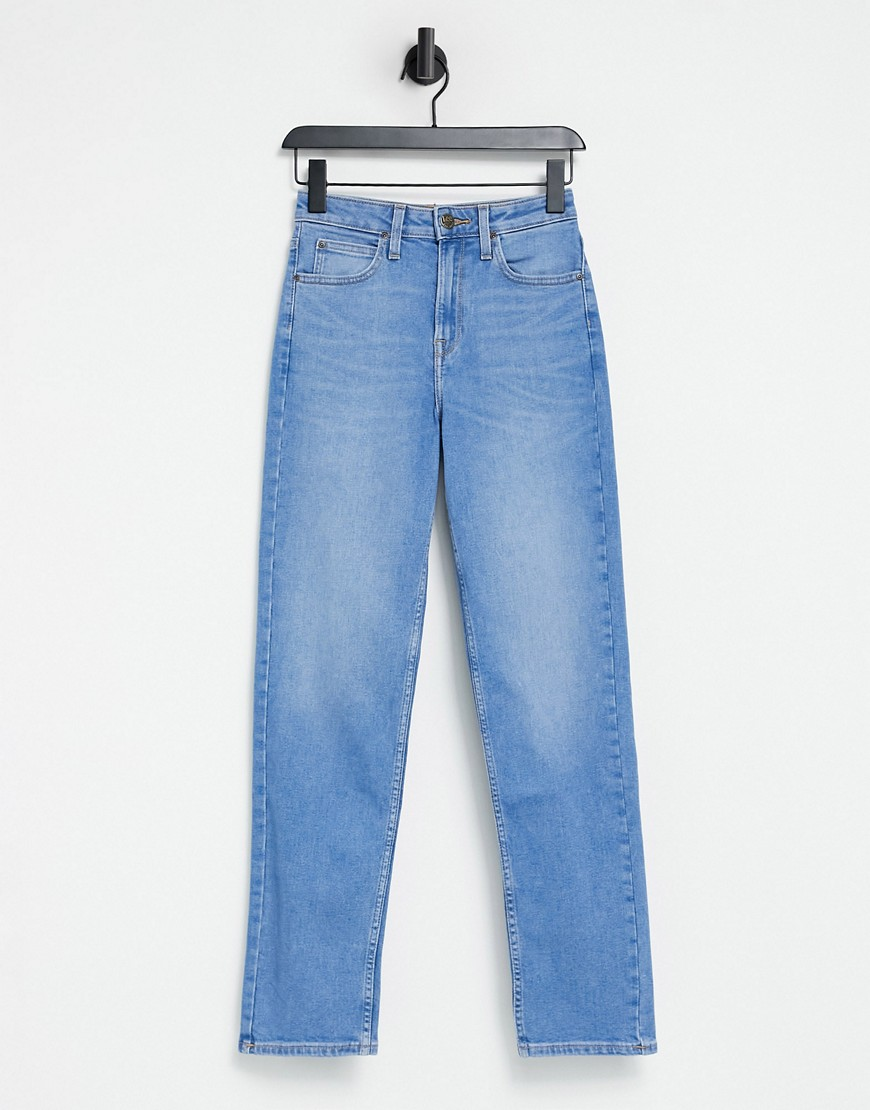Lee Jeans Carol straight leg jeans in mid wash denim-Blue