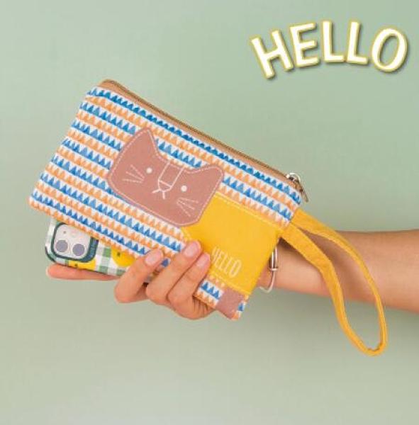 零錢包布藝女小錢包迷你手拿包帆布學生簡約韓版放零錢鑰匙手機袋科炫