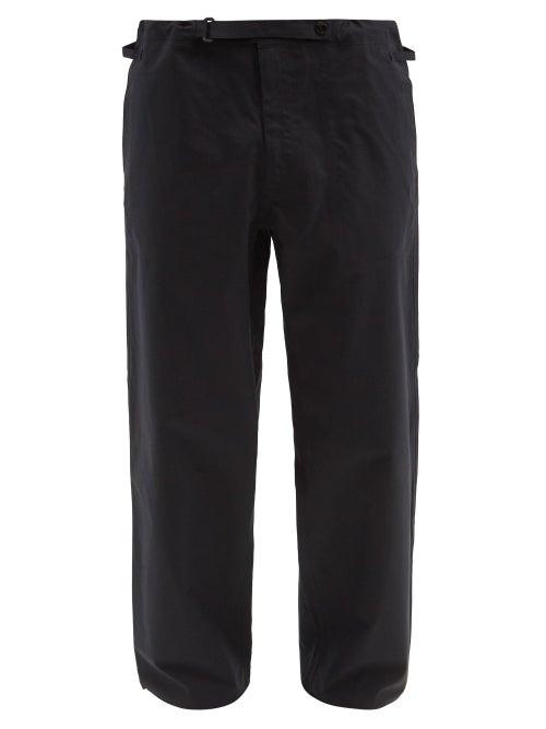 C.P. Company - Logo-patch Cotton-ventile® Trousers - Mens - Black