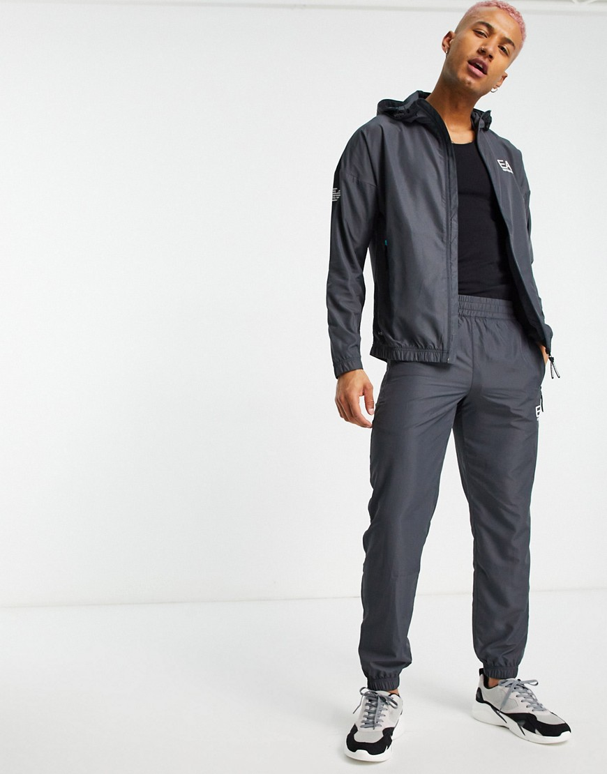 Armani EA7 Ventus technical tracksuit in grey