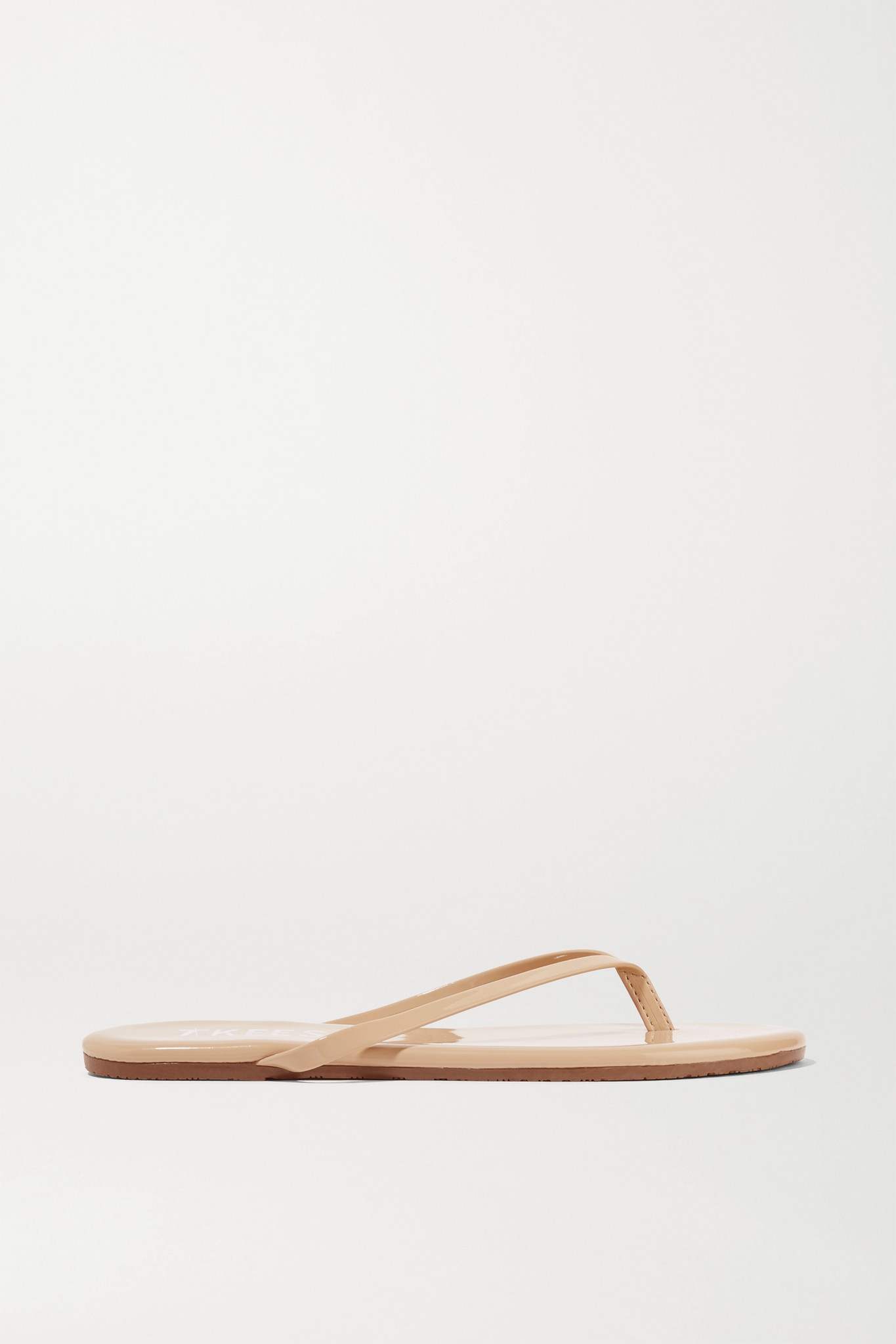 TKEES - Foundations Gloss Patent-leather Flip Flops - Neutrals - US9