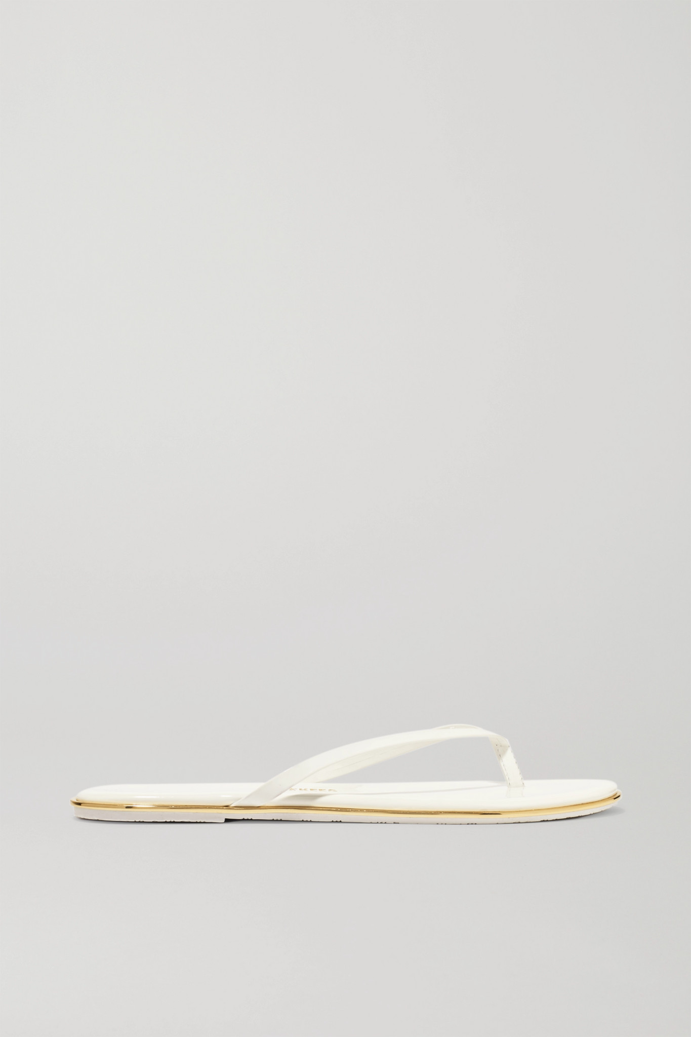TKEES - Foundations Gloss Patent-leather Flip Flops - White - US5