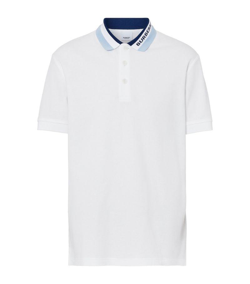 Burberry Cotton Piqué Logo-Detail Polo Shirt