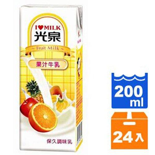 光泉保久調味乳-果汁牛乳200ml(24入)/箱