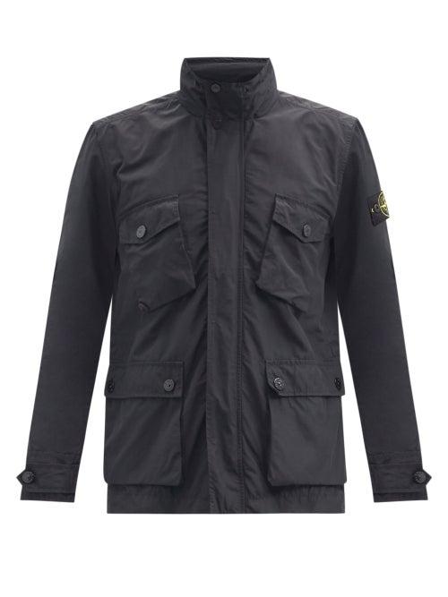 Stone Island - Micro Reps High-neck Zipped Jacket - Mens - Black