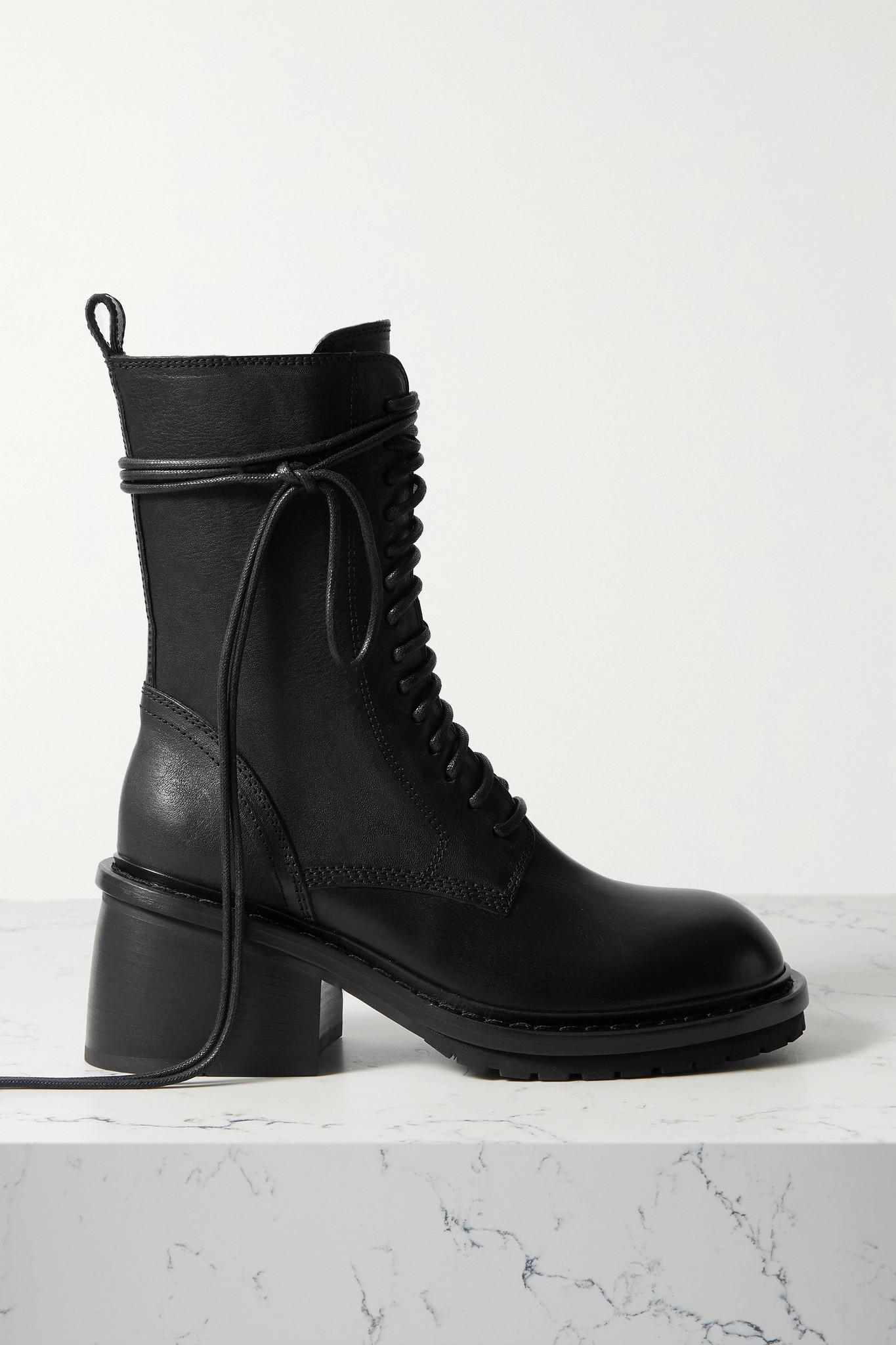 ANN DEMEULEMEESTER - 皮革踝靴 - 黑色 - IT40
