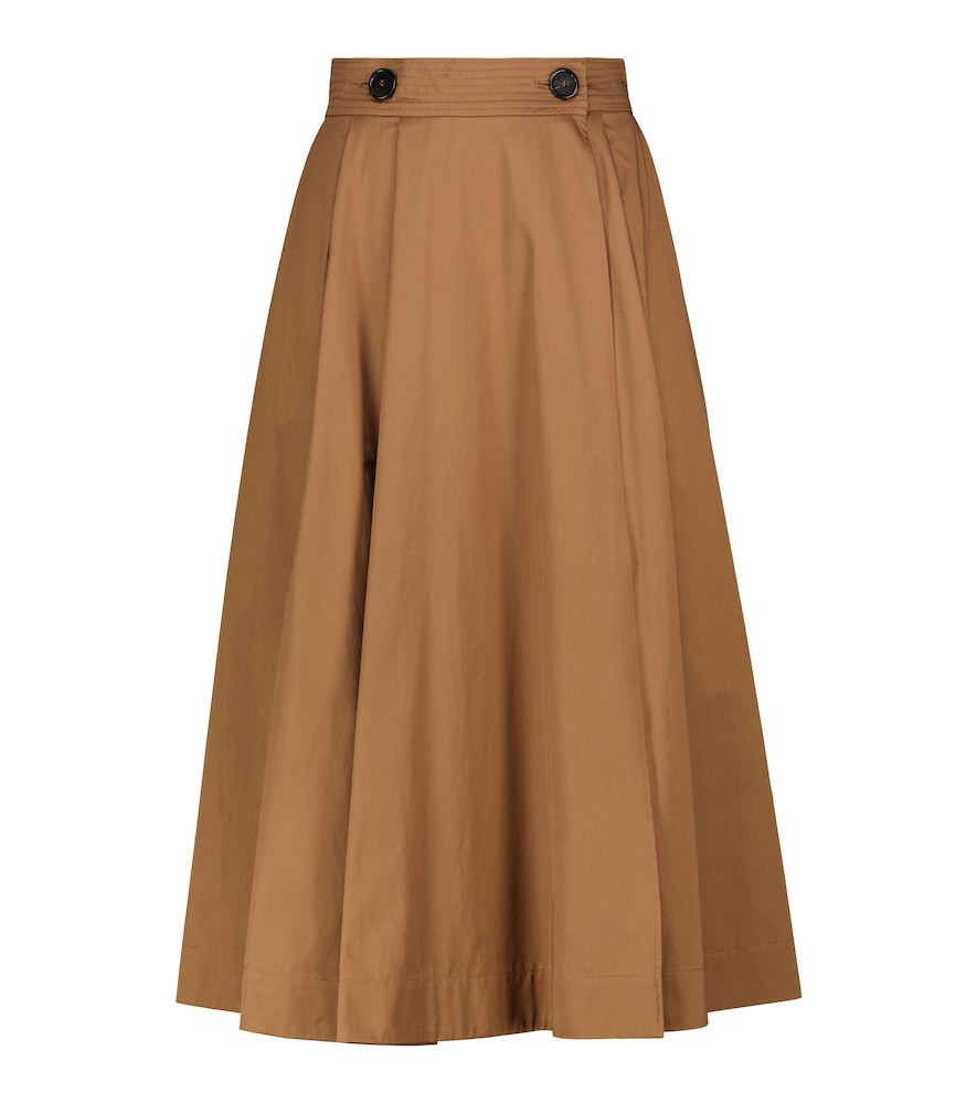 Pueblo cotton sateen skirt