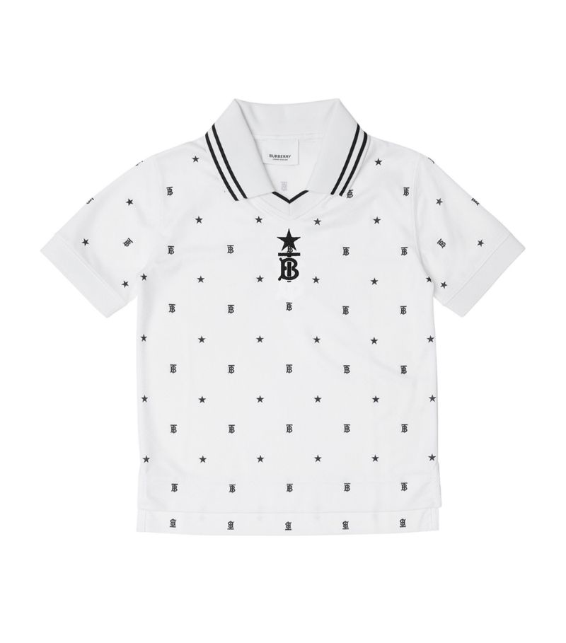 Burberry Kids Star And Monogram Polo Shirt (3-14 Years)