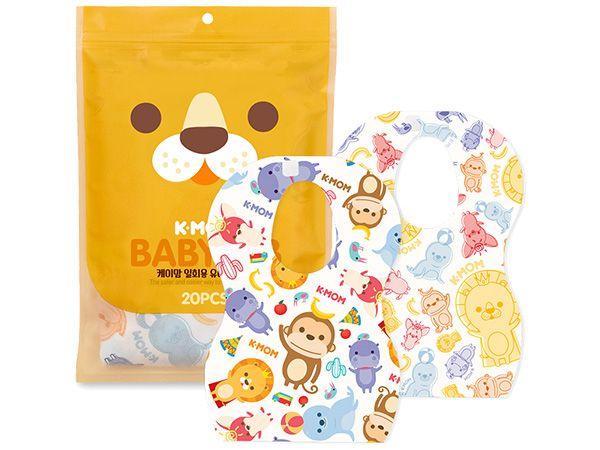韓國 K-MOM~小淘氣拋棄式圍兜(20入)【DS000659】MOTHER-K