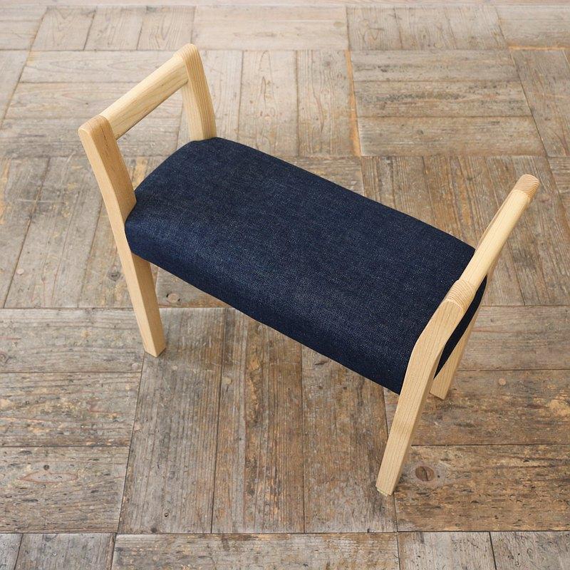 玄關凳雙臂[Kibe]天然[Zhangji]牛仔布