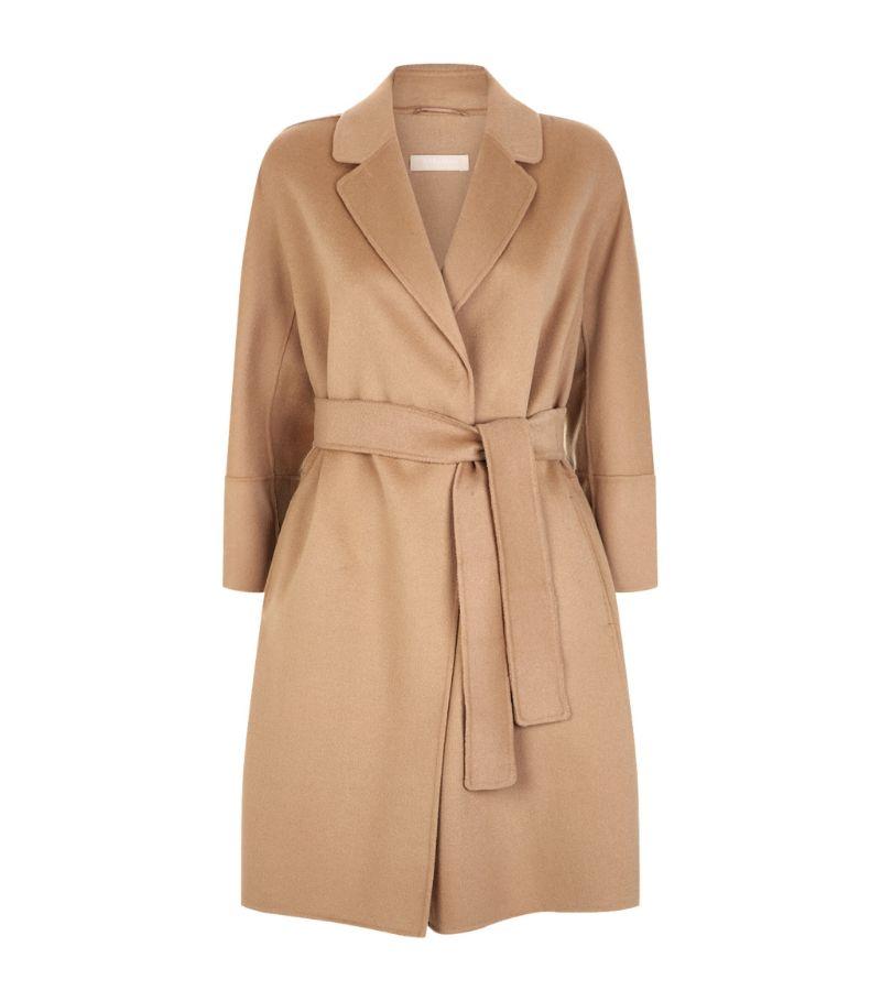 Max Mara Arona Short Wool Wrap Coat