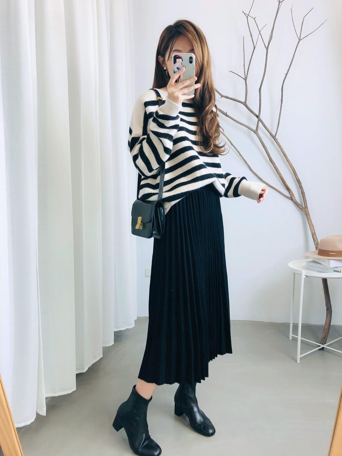 【missy shop】電視黑白條上衣-2071