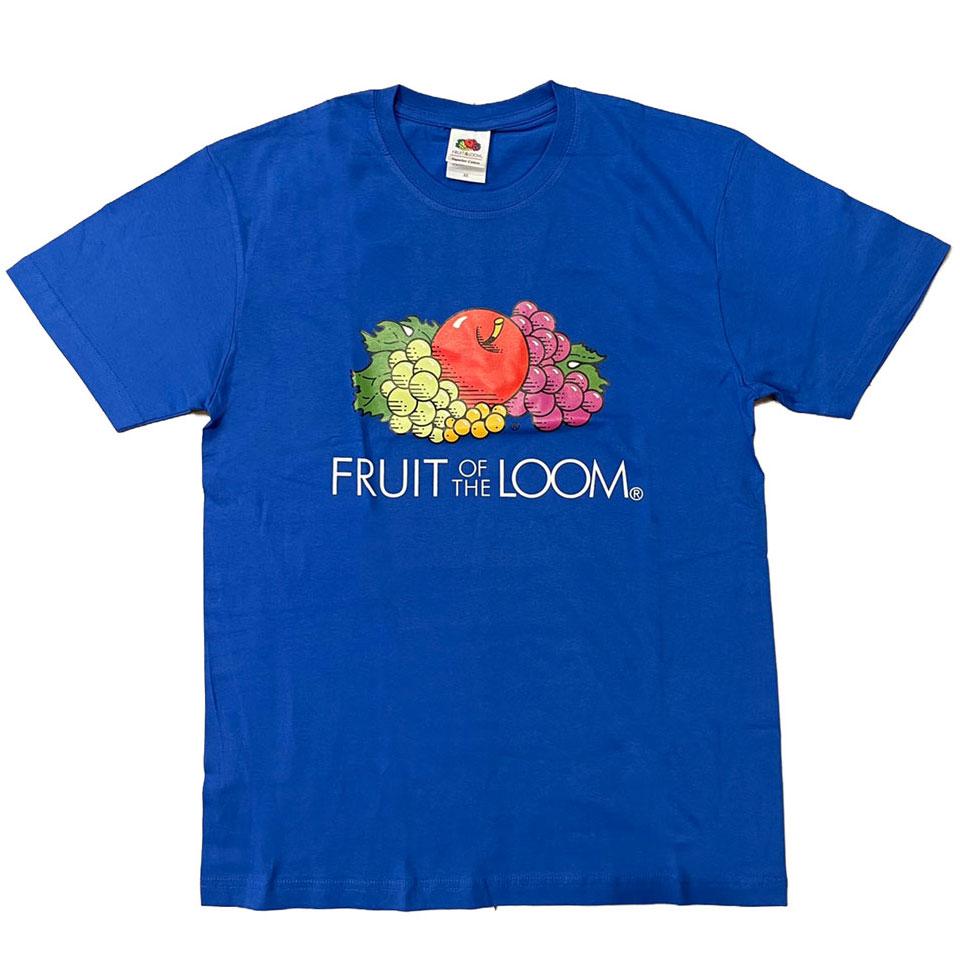 FRUIT OF THE LOOM 水果牌 - ACL2100CW 美國純棉 5.9oz 彩圖白字 短T (RL 藍色)