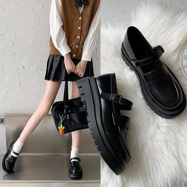 牛津鞋 小皮鞋日系女jk2021新款百搭單鞋復古夏季薄款制服增高春秋瑪麗珍 美物