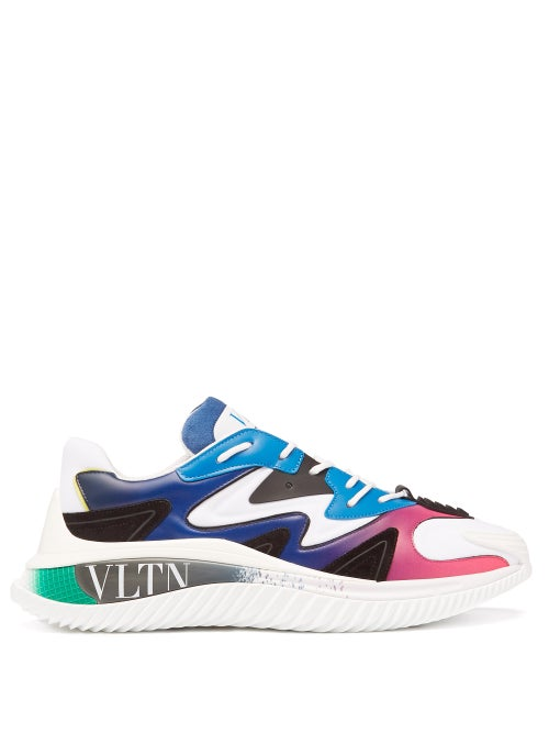 Valentino Garavani - Wade Runner Vltn Leather Trainers - Mens - White Multi