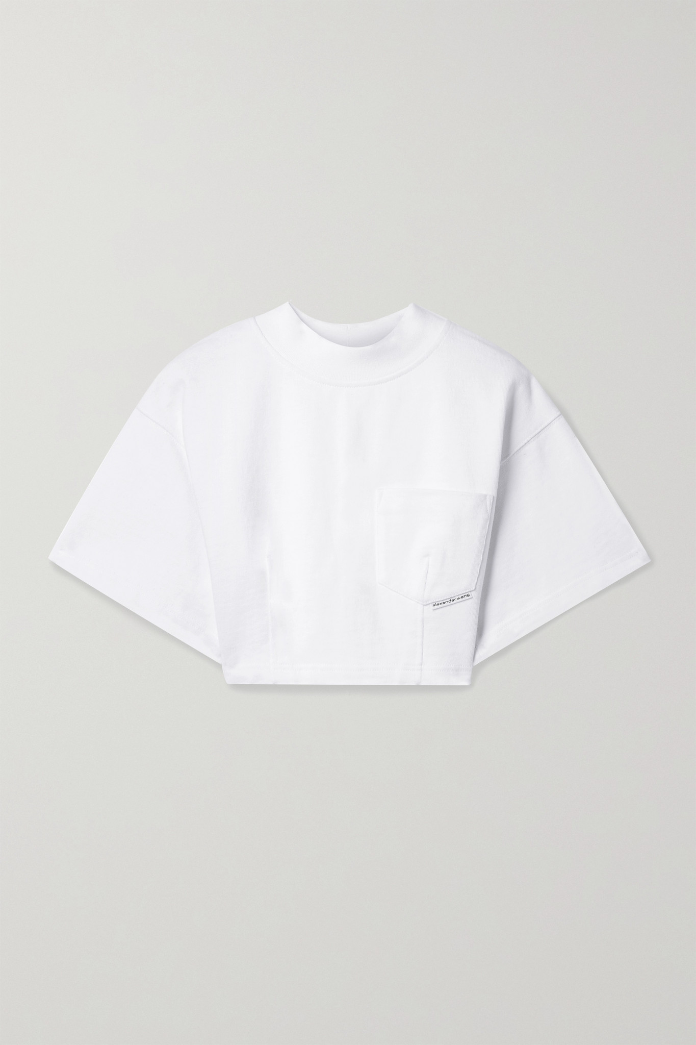 ALEXANDERWANG.T - Cropped Cotton-jersey T-shirt - White - medium