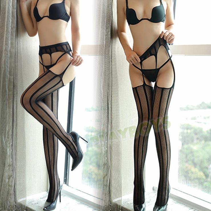 佳麗魅影蕾絲吊帶連褲網襪