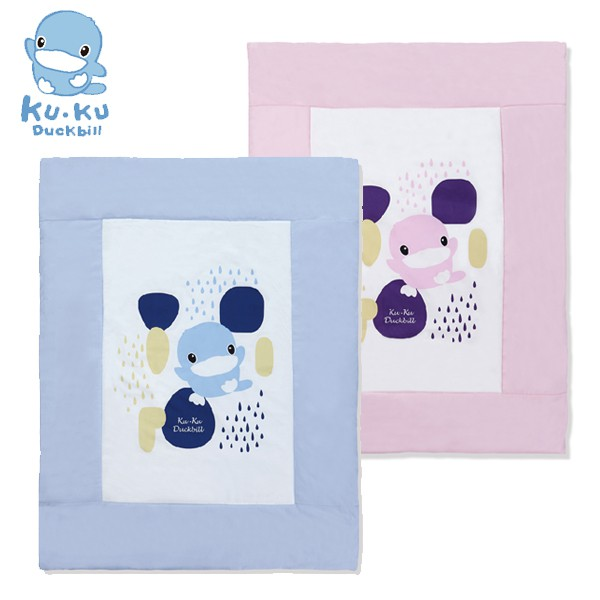 酷咕鴨 KU KU 成長印記涼被.嬰兒被.薄毯(藍色/粉色)