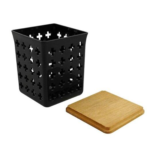 【領券折$30】小禮堂 小久保工業所 日製 木頭蓋通風收納盒 飾品盒 文具盒 小物盒 (M 2款隨機)