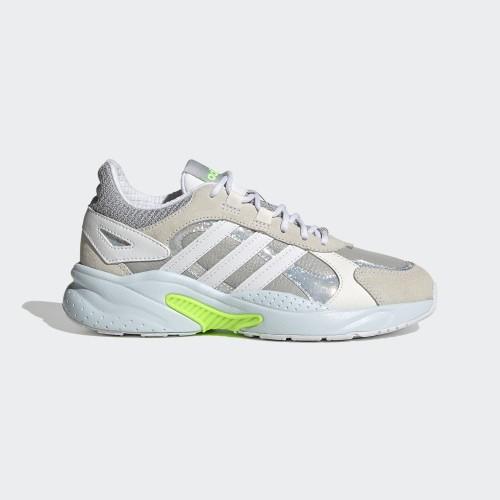 ADIDAS 女款運動鞋 CRAZYCHAOS SHADOW 運動 休閒 慢跑 白綠- FX9111