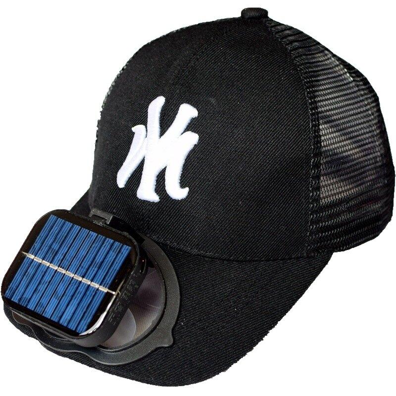 太陽能風扇帽子太陽能充電usb成人男女遮陽防曬網帽帶風扇的帽子