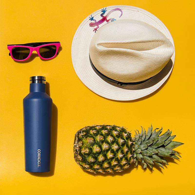 【Gloss亮面】三層真空易口瓶/保溫瓶 740ml-地中海藍 易口瓶-740ml-搖滾桃紅