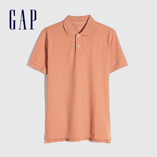 Gap男裝 商務舒適棉質透氣POLO衫 736520-橙色