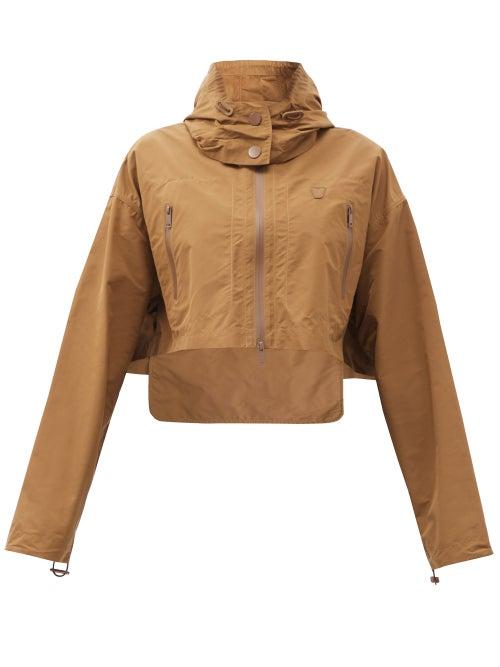 Vaara - Emma Packable Hooded Cropped Jacket - Womens - Brown